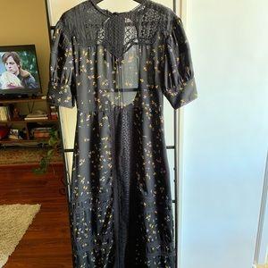 Topshop open back prairie dress